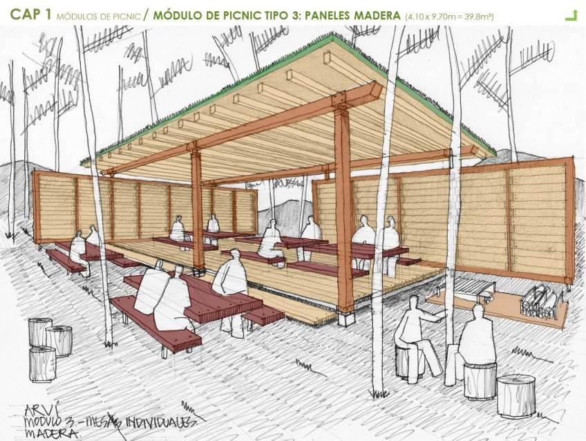 Arv Modulo Picnic Madera Dibujo Learning From Creativity
